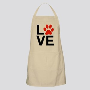 Love Dogs / Cats Pawprints Apron