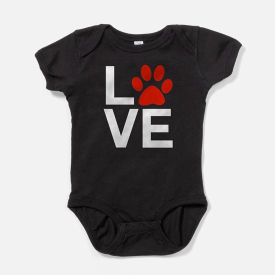 Love Dogs / Cats Pawprints Baby Bodysuit