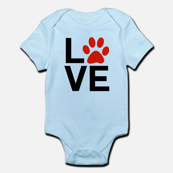 Love Dogs / Cats Pawprints Infant Bodysuit