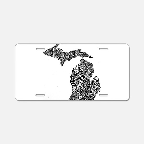 Unique Upper peninsula Aluminum License Plate