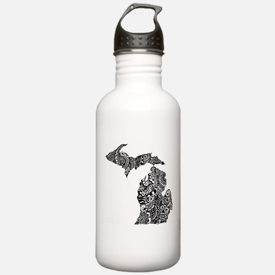Cute Upper peninsula michigan Water Bottle