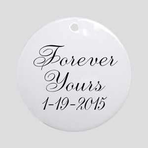 Forever Yours Personalizable Ornament (Round)
