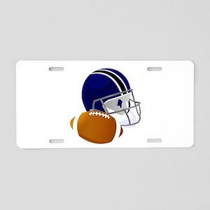 Football Helmet and ball Aluminum License Plate