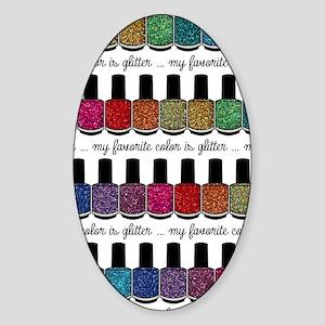 My Favorite Color Is Glitter Sticker (Oval)