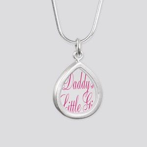 Daddys Little Girl Pink Large Script Necklaces