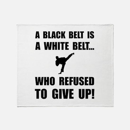 Black Belt Refusal Throw Blanket