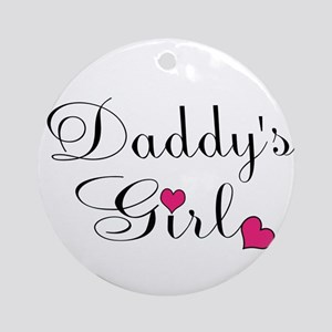 Daddys Girl Pink Hearts Ornament (Round)