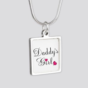 Daddys Girl Pink Hearts Necklaces