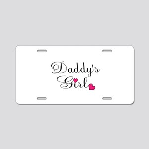 Daddys Girl Pink Hearts Aluminum License Plate
