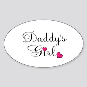 Daddys Girl Pink Hearts Sticker