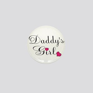 Daddys Girl Pink Hearts Mini Button