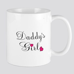 Daddys Girl Pink Hearts Mugs