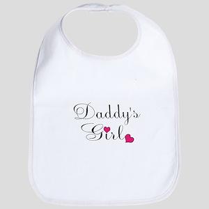 Daddys Girl Pink Hearts Bib