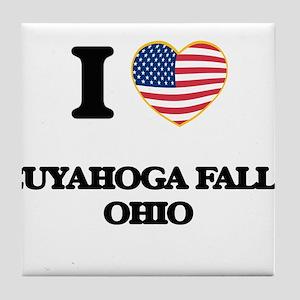 I love Cuyahoga Falls Ohio Tile Coaster