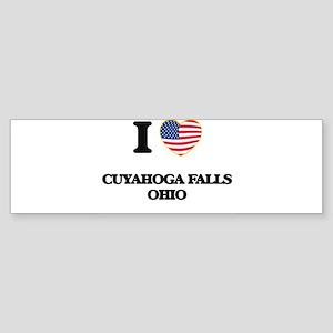 I love Cuyahoga Falls Ohio Bumper Sticker