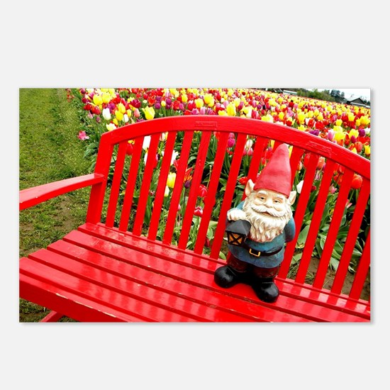 Red Bench Gnome Postcards (Package of 8)