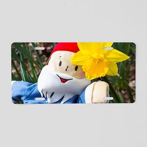 Daffodil Gnome Aluminum License Plate