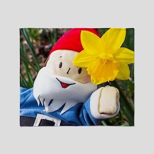 Daffodil Gnome Throw Blanket