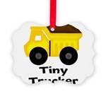 Tiny Trucker Yellow Dump Truck Ornament