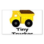 Tiny Trucker Yellow Dump Truck Sticker