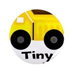 Tiny Trucker Yellow Dump Truck Button