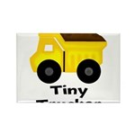 Tiny Trucker Yellow Dump Truck Magnets