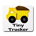 Tiny Trucker Yellow Dump Truck Mousepad