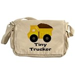 Tiny Trucker Yellow Dump Truck Messenger Bag