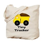 Tiny Trucker Yellow Dump Truck Tote Bag