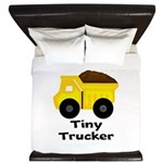 Tiny Trucker Yellow Dump Truck King Duvet