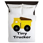 Tiny Trucker Yellow Dump Truck Queen Duvet