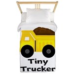 Tiny Trucker Yellow Dump Truck Twin Duvet