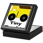 Tiny Trucker Yellow Dump Truck Keepsake Box