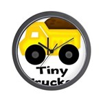 Tiny Trucker Yellow Dump Truck Wall Clock