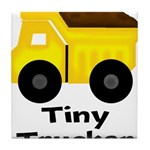 Tiny Trucker Yellow Dump Truck Tile Coaster