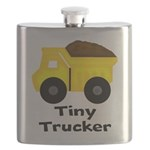 Tiny Trucker Yellow Dump Truck Flask