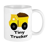 Tiny Trucker Yellow Dump Truck Mugs