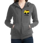 Tiny Trucker Yellow Dump Truck Women's Zip Hoodie