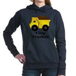 Tiny Trucker Yellow Dump Truck Women's Hooded Swea
