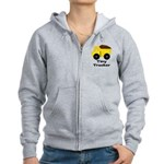 Tiny Trucker Yellow Dump Truck Zip Hoodie