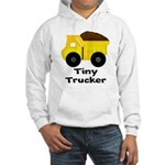 Tiny Trucker Yellow Dump Truck Hoodie