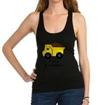 Tiny Trucker Yellow Dump Truck Racerback Tank Top
