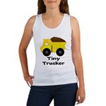 Tiny Trucker Yellow Dump Truck Tank Top