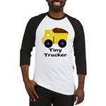 Tiny Trucker Yellow Dump Truck Baseball Jersey
