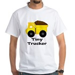 Tiny Trucker Yellow Dump Truck T-Shirt