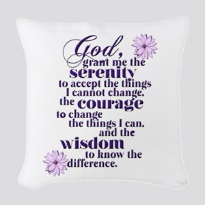 Serenity Prayer Woven Throw Pillow