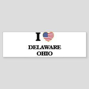 I love Delaware Ohio Bumper Sticker