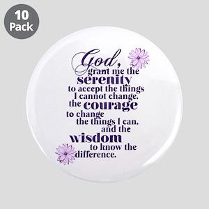 "Serenity Prayer 3.5"" Button (10 pack)"