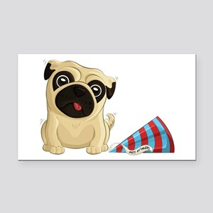 Birthday Pug Rectangle Car Magnet