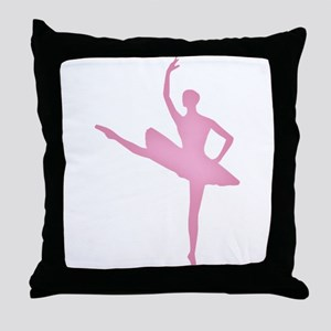 Pink Ballerina Throw Pillow